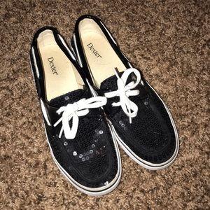 Black sparkly Dexter sneakers
